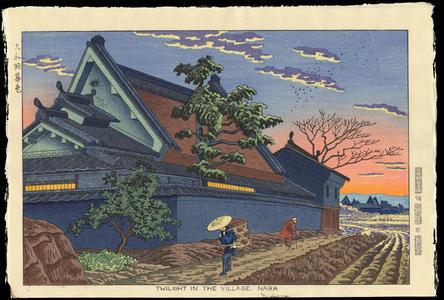 Asano Takeji: Twilight In The Village, Nara - Ohmi Gallery