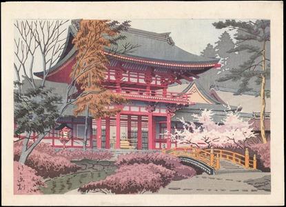 Asano Takeji: Temple in Spring (1) - Ohmi Gallery