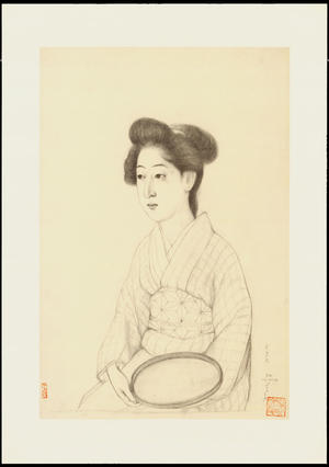 Hashiguchi Goyo: Graphite on Paper Sketch 10 - Ohmi Gallery