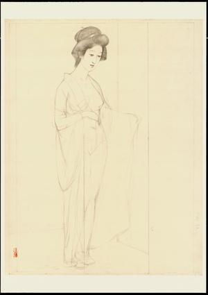 Hashiguchi Goyo: Graphite on Paper Sketch 13 - Ohmi Gallery
