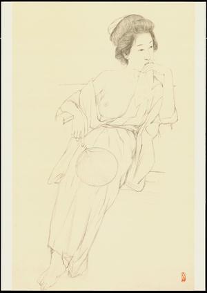 Hashiguchi Goyo: Graphite on Paper Sketch 14 - Ohmi Gallery