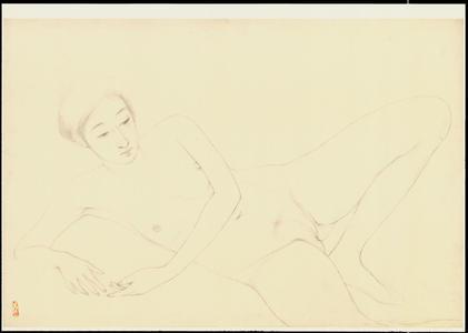 Hashiguchi Goyo: Graphite on Paper Sketch 22 - Ohmi Gallery