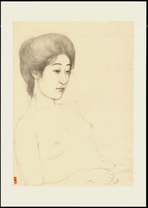 橋口五葉: Graphite on Paper Sketch 6 - Ohmi Gallery