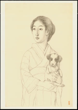 Hashiguchi Goyo: Graphite on Paper Sketch 7 - Ohmi Gallery