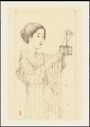 Hashiguchi Goyo: Graphite on Paper Sketch 3 - Ohmi Gallery