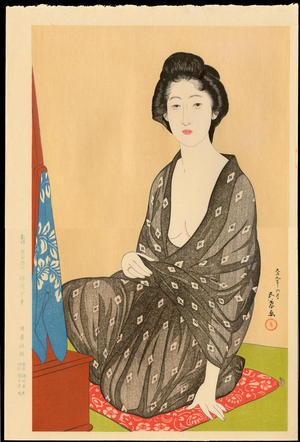 Hashiguchi Goyo: Summer Kimono (In a Light Garment, a Woman from Naniwa) - 夏衣の女(うすごろも浪花の女) - Ohmi Gallery