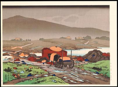Hashiguchi Goyo: Rain at Yabakei - Ohmi Gallery