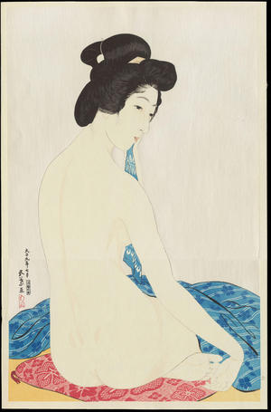 Hashiguchi Goyo: Woman after a Bath - 化粧の女 - Ohmi Gallery