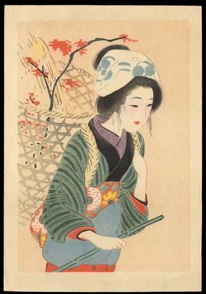 Hirezaki, Eiho: Bijin in Autumn (1) - Ohmi Gallery