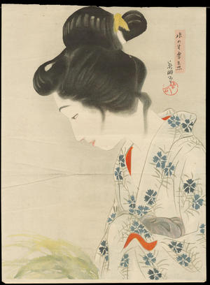 Hirezaki, Eiho: The Appearance of a Ghost of a Young Girl - 娘の生霊来照 - Ohmi Gallery