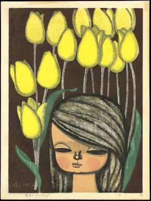 Ikeda Shuzo: Yellow Tulips - 黄色いチューリップ - Ohmi Gallery