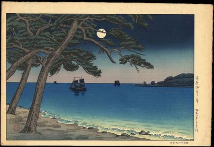Tsuchiya Koitsu: The Moon from Suma Beach - 須磨海岸の月 - Ohmi Gallery