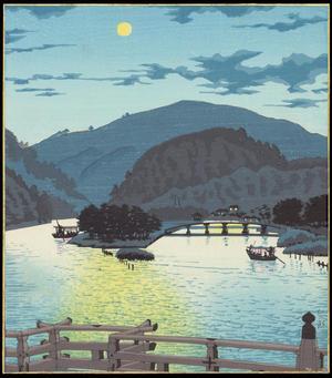 Ito, Nisaburo: Ujibashi Bridge - 宇治橋 - Ohmi Gallery