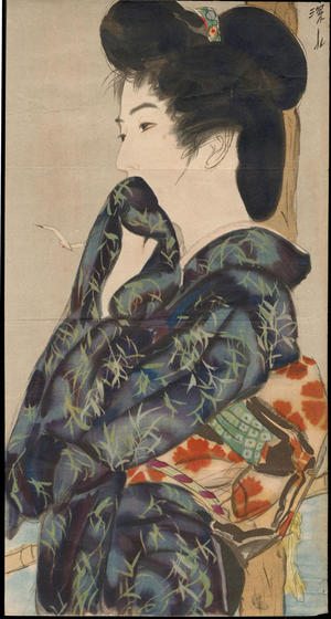 Ito Shinsui: Bijin at the Beach - 三味線 (1) - Ohmi Gallery