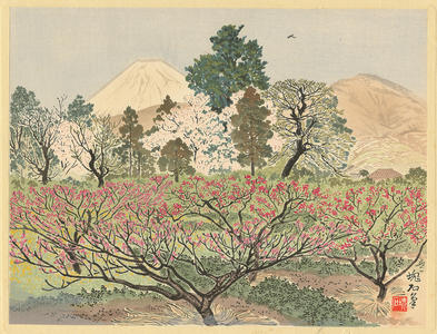 Jokata Kaiseki: Mt Fuji From Peach Orchards of Hara - Ohmi Gallery