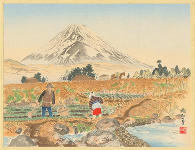 Jokata Kaiseki: Mt Fuji From Sano Village - Ohmi Gallery