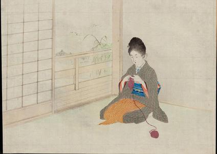 梶田半古: Crimson Lotus, White Lotus - 紅蓮白蓮 - Ohmi Gallery