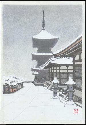 Kamei, Tobei: Pagoda in Snow - 金閣寺 (1) - Ohmi Gallery