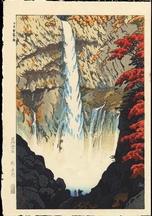 笠松紫浪: Kegon Waterfall At Nikko - Ohmi Gallery