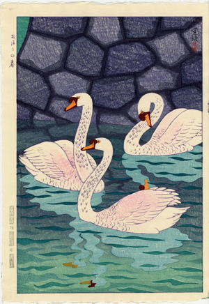 笠松紫浪: Spring At The Moat - Ohmi Gallery
