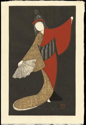 河野薫: Dancing Figure (Mai Ogi) - Ohmi Gallery