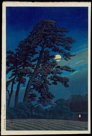 川瀬巴水: Moon At Magome - 馬込の月 - Ohmi Gallery