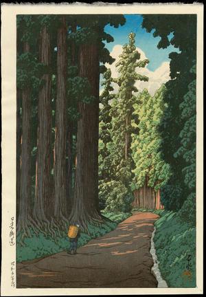 川瀬巴水: Road to Nikko (Nikko Kaido Line) - 日光街道 - Ohmi Gallery