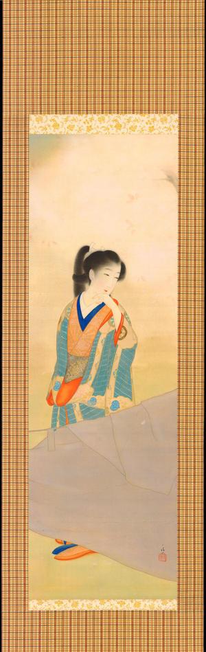 朝井清: Bijin Under Cherry Tree (1) - Ohmi Gallery