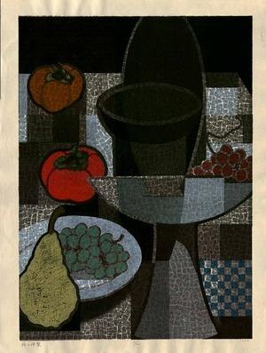 馬淵聖: Persimmon and Pear - 柿と洋梨 - Ohmi Gallery