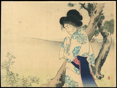 水野年方: The Mad Woman of Hachiman - 八幡の狂女 (1) - Ohmi Gallery