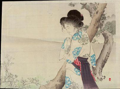 水野年方: The Mad Woman of Hachiman - 八幡の狂女 - Ohmi Gallery