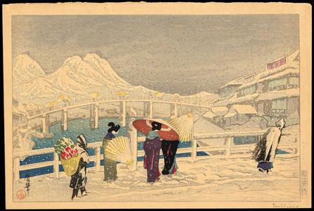 Oda Kazuma: The Great Bridge at Matsue - Ohmi Gallery