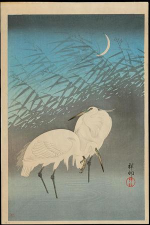 Shoson Ohara: Egrets - Ohmi Gallery