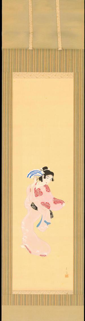 Sanae: Bijin Fan Dance (1) - Ohmi Gallery