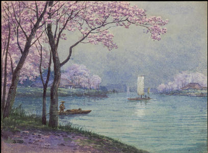 Satta: Riverside Village in Spring (1) - Ohmi Gallery