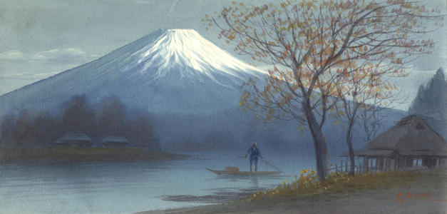 Seki, K: Boatman on Mt Fuji Stream (1) - Ohmi Gallery