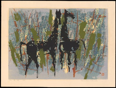 Shima, Tamami: Horses In The Forest - Ohmi Gallery