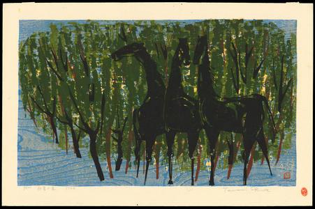 Shima, Tamami: Horses in Early Summer - 初夏の馬 - Ohmi Gallery