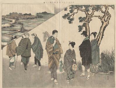Watanabe Shotei: Picture of a Visit to Shibamata Taishakuten - 柴又の帝釋天詣の圖解 - Ohmi Gallery