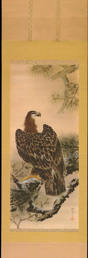 Watanabe Shotei: Eagle on Pine Tree - Ohmi Gallery