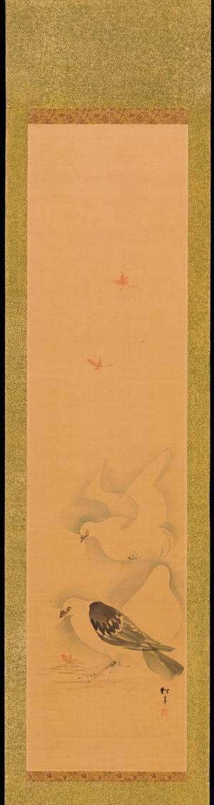 Watanabe Shotei: Two Doves - 鳩図 - Ohmi Gallery