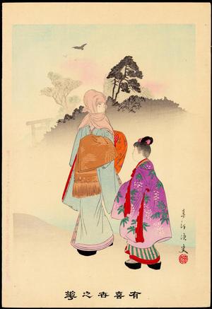 Miyagawa Shuntei: Hatsumode (A Visit to a Shrine on New Year's Day) (1) - Ohmi Gallery