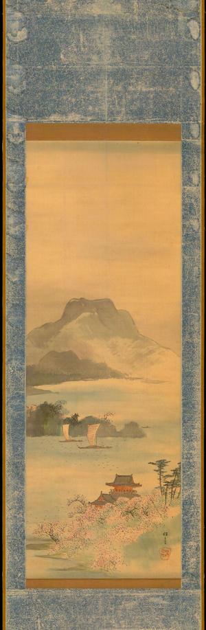 渡辺省亭: Bay Landscape in Spring - 湾山水図 (1) - Ohmi Gallery