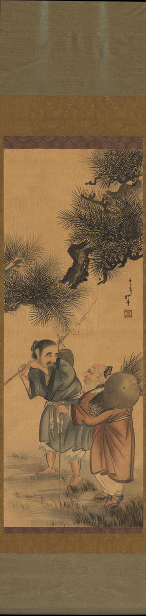 Watanabe Shotei: Fisherman and Woodcutter - 漁樵問答図 (1) - Ohmi Gallery