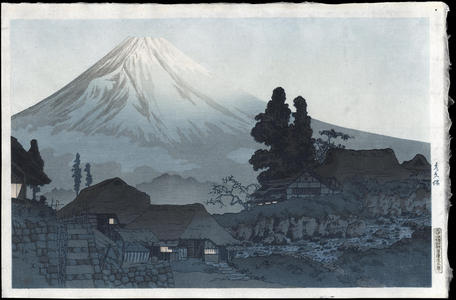 渡辺省亭: Fuji From Mizukubo - Ohmi Gallery
