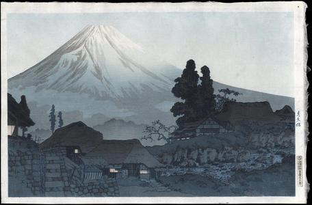 渡辺省亭: Fuji From Mizukubo - Ohmi Gallery
