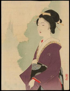 武内桂舟: A Regal Bijin (1) - Ohmi Gallery