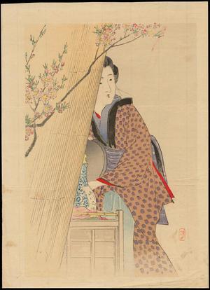 Takeuchi Keishu: Bijin by Her Dutchess (1) - Ohmi Gallery