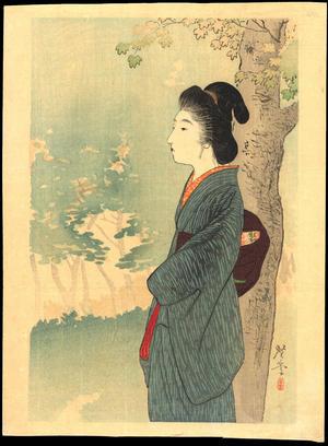Terazaki, Kogyo: Beauty and Red Maple - 満州の花 (1) - Ohmi Gallery
