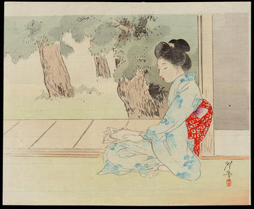 Terazaki, Kogyo: Relaxing in the Evening - 夕すずみ - Ohmi Gallery